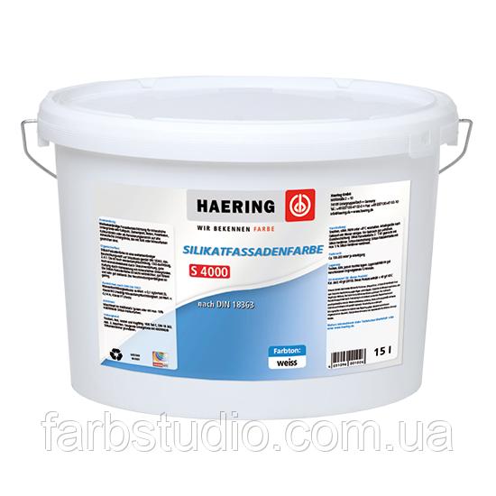 Фарба водно-силікатна фасадна Haering Silikat Fassadenfarbe S 4000 - база 1, 10 л