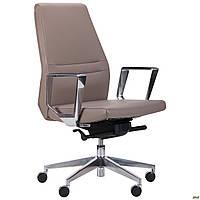 Кресло офисное кожаное AMF Larry LB  светло-серое, фото 1
