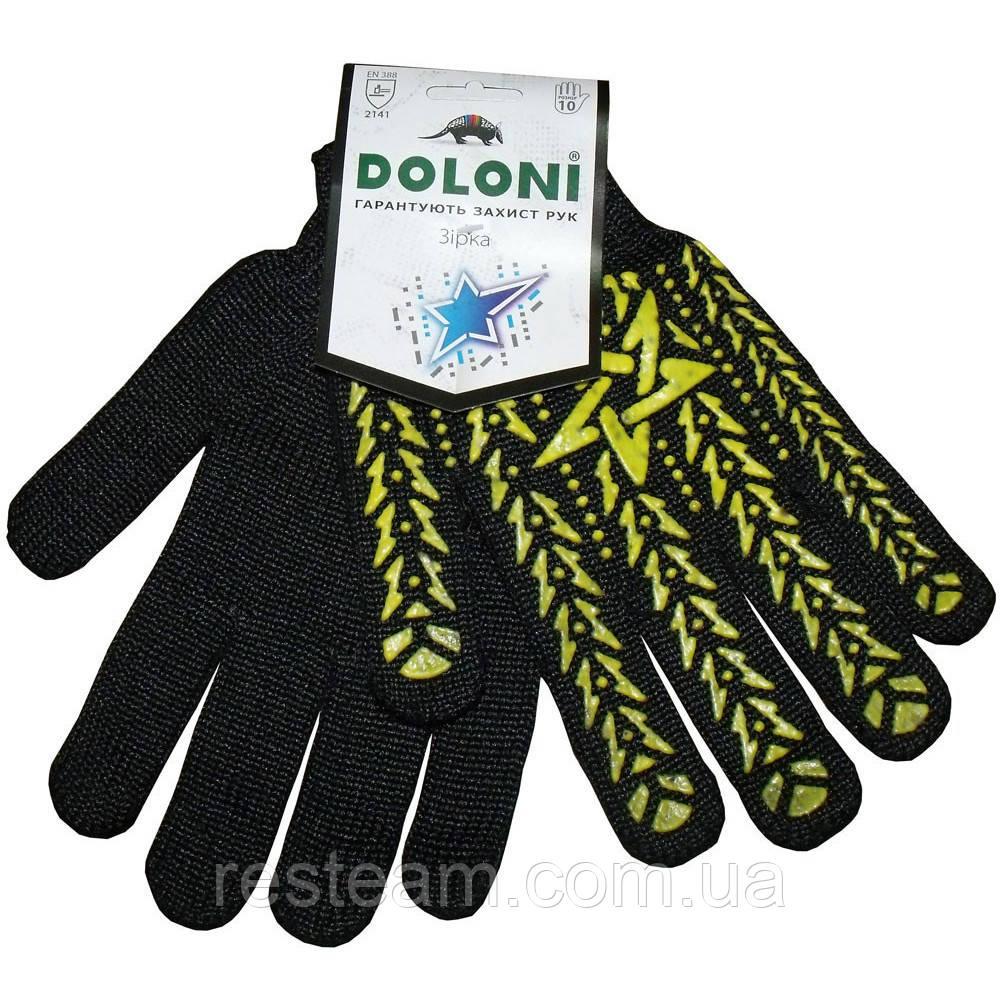 Перчатки рабочие Doloni Звезда черные