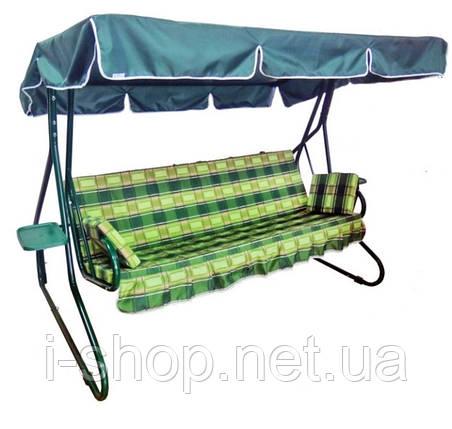 Тент на качель садовую Люкс-2 + комплект крепежей для крыши, фото 2