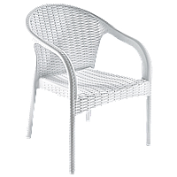 Кресло Irak Plastik Ege под ротанг белый