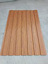 Профнастил с объемным рисунком  дерева 3D wood, размер листа 2мХ1,16м, фото 3