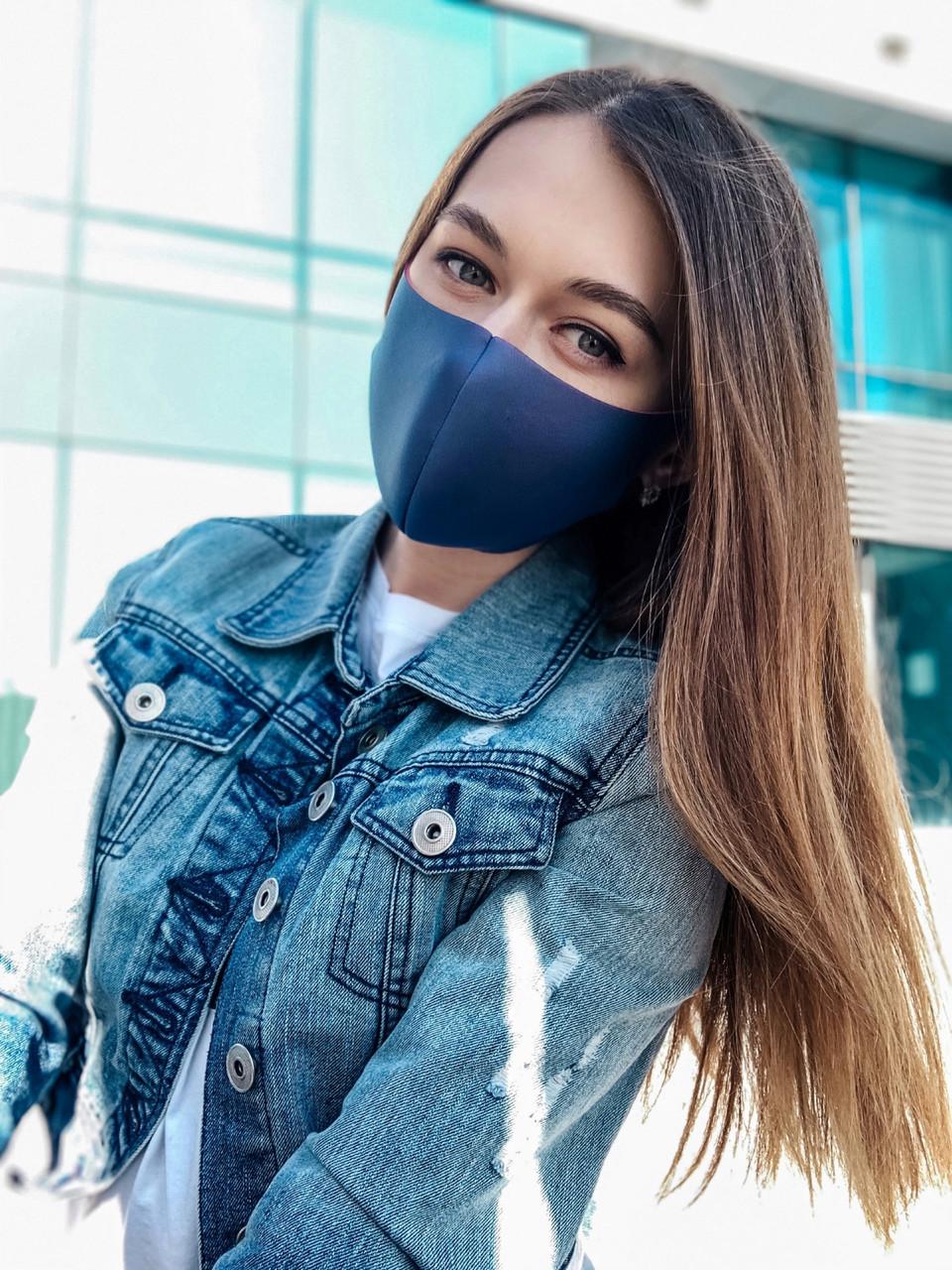 Маска защитная темно синяя (джинсовая)