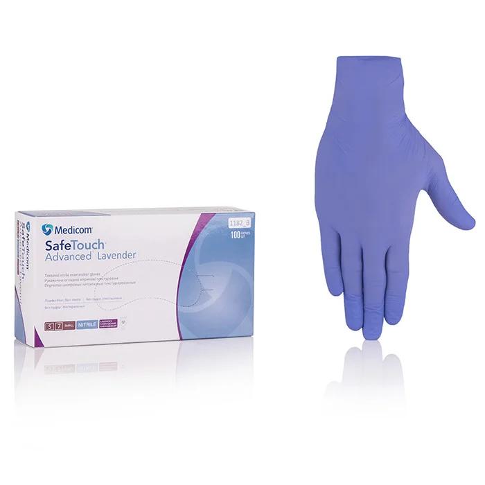 Нитриловые перчатки Medicom SafeTouch Advanced Lavender M Lavender 100 шт
