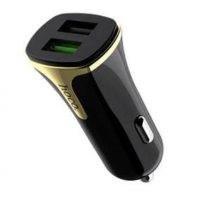 Автомобільний зарядний пристрій Hoco Z31 Qualcomm 3.0 (2USB/3.4 A) Black