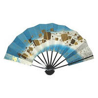 Японсий веер «Узор на стекле»