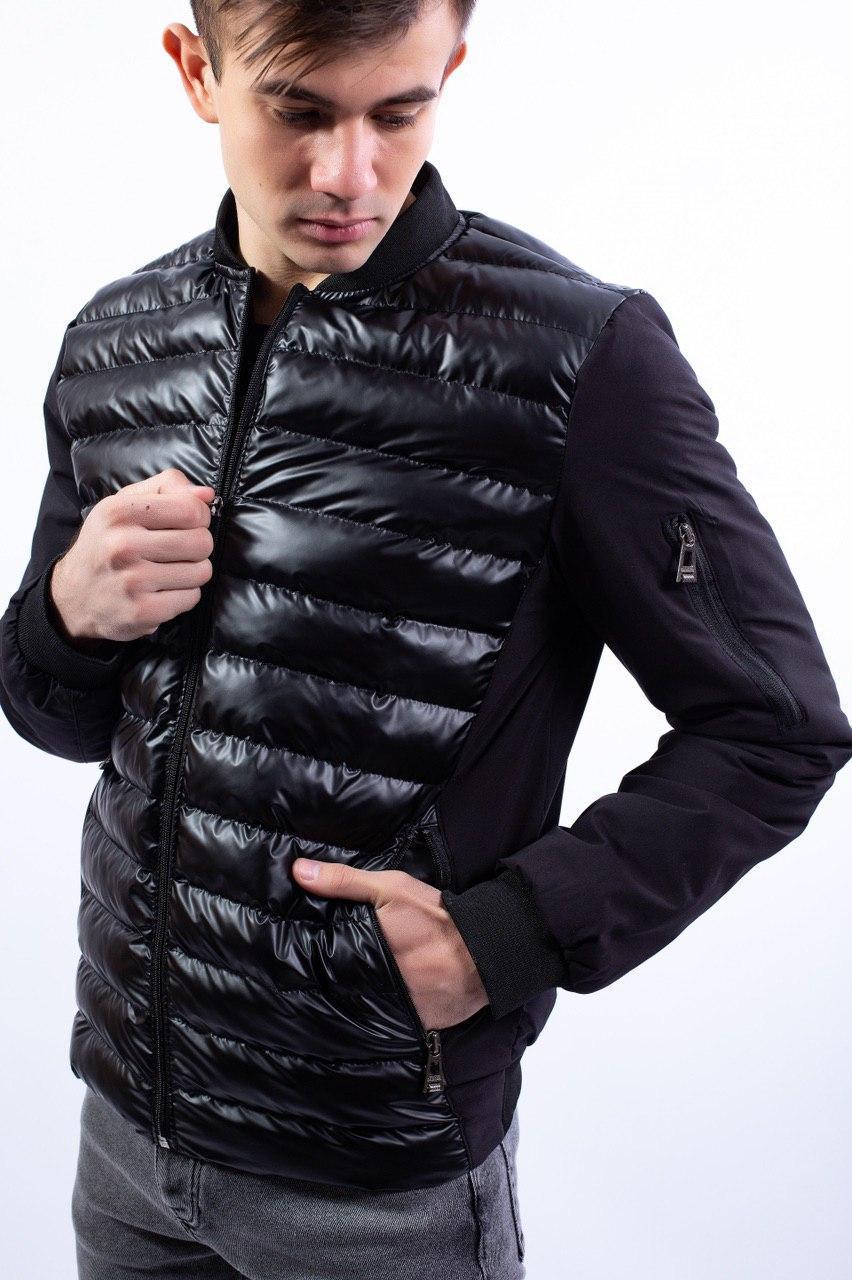 Чоловіча куртка чорна 18081
