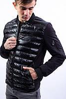 Чоловіча куртка чорна 18081, фото 1