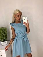 Женское легкое платье из габардина