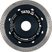Диск отрезной алмазный по керамограниту, стеклу, керамике для мокрой и сухой резки YATO 115 x 1.6 x 10 x 22.2 мм