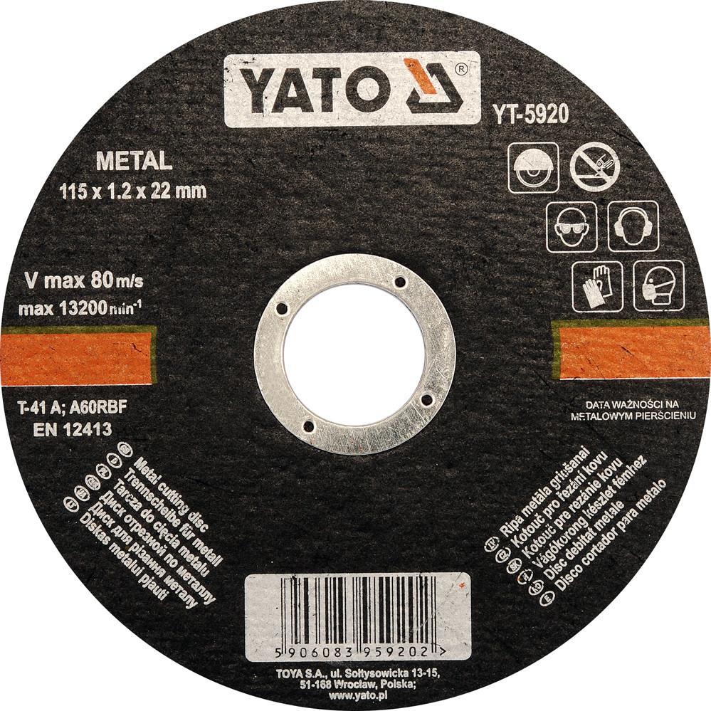 Диск пильний по алюмінію YATO 200 х 30 х 3.0 х 2.2 мм 60 зубців R. P. M до 8000 1/хв