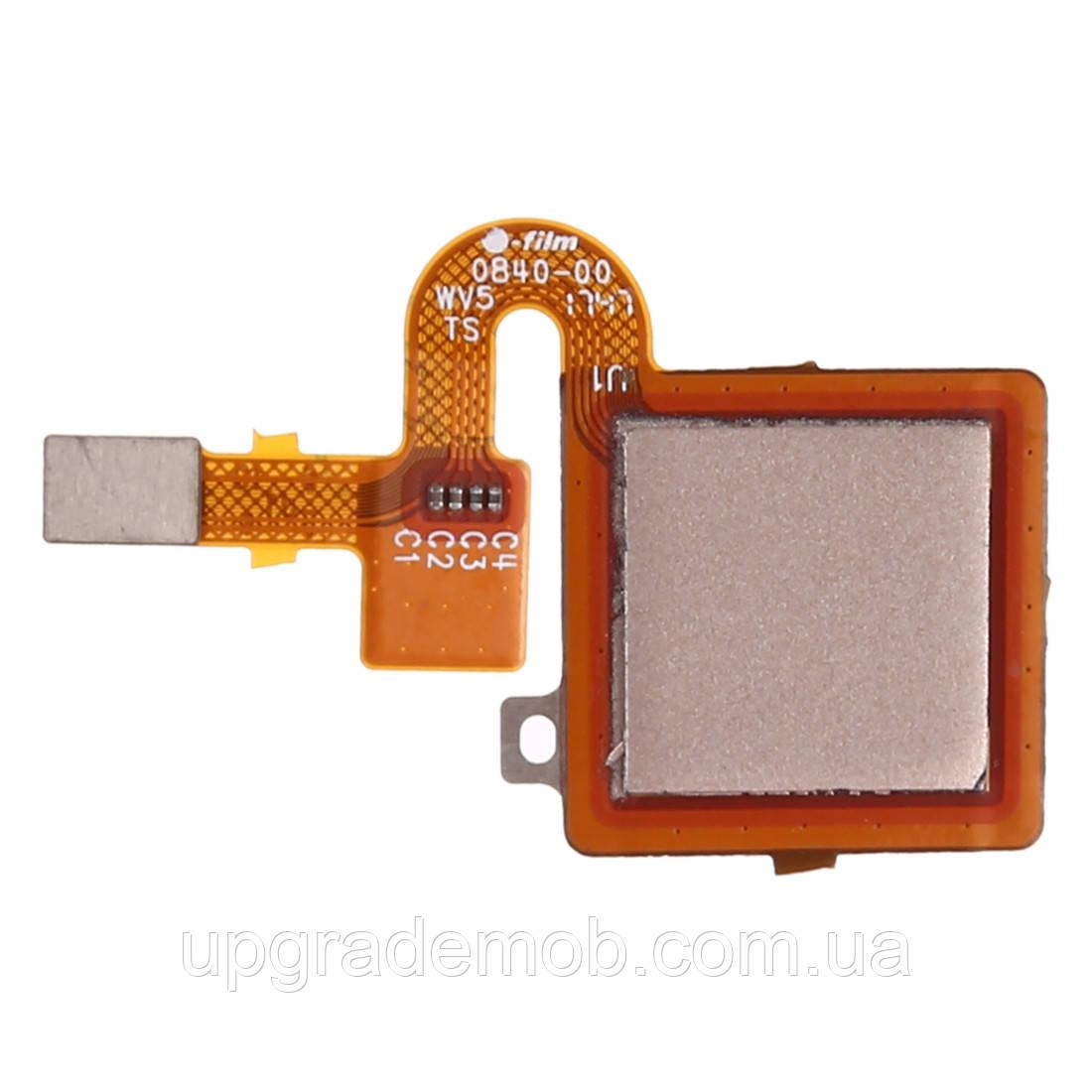 Шлейф Xiaomi Redmi 5 Plus, с сканером отпечатка пальца, золотистого цвета