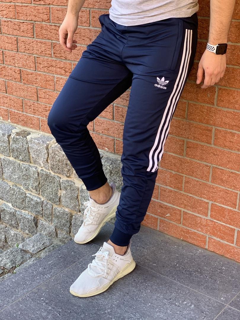 Спортивные штаны Adidas синие. Адисдас