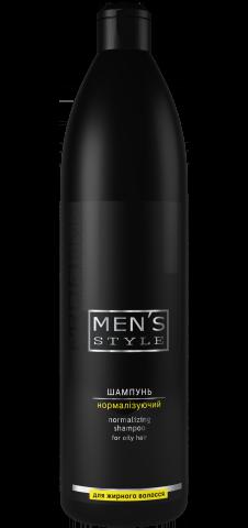 Шампунь нормалізуючий Men's Style для жирного волосся 1000 мл Profi Style