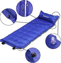 Самонадувающийся килимок KingCamp Base Camp XL(KM3559) (navy blue), фото 2