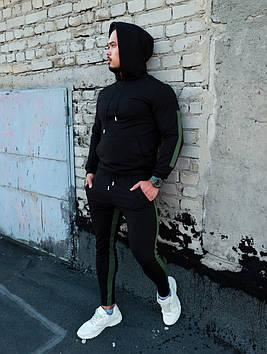 Мужской спортивный костюм с лампасами черный. Все размеры!