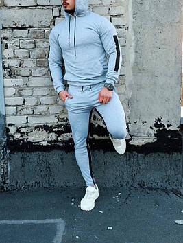 Мужской спортивный костюм серый. Все размеры!