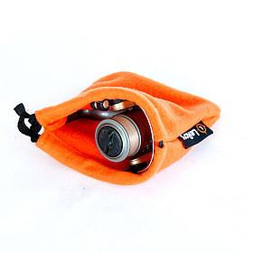 Флисовый чехол-мешок для катушки LeRoy L 25*25 см оранжевый