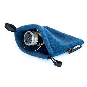 Флисовый чехол-мешок для катушки LeRoy M 20*20 см синий