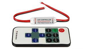 Міні диммер RF DMR 12V, 6A для монохромного світлодіодної стрічки з радіо пультом Код.58447
