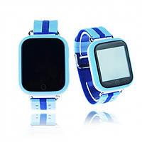 Детские умные GPS часы-телефон Q100 Голубые