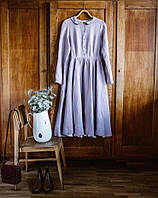 Милое нежное сиреневое, розовое, нежно голубое, нежно желтое, нежно зеленое платье из льна, пляж и город, олдс, фото 1