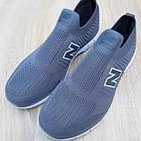 🔥 Кроссовки тапки мужские повседневные New Balance нью беленс серые, фото 5
