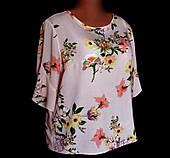 Блуза женская Dorothy Perkins, розовый штапель с цветочным принтом, большой размер 52/54
