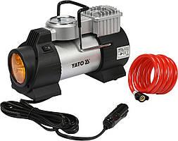 Компрессор автомобильный YATO 12 В 180 Вт 40 л/мин 1 Mпа + шланг 1 м + насадки + мешок
