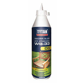 Клей ПВА влагостойкий Tytan D3 для древесины WB-33 белый 500 г