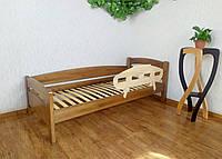 """Детская кровать с бортиком из массива дерева """"Марта"""" (светлый дуб) от производителя"""