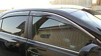 """Дефлекторы окон ветровики Hyundai Tucson 15-  Скотч """"FLY"""" (С НЕРЖ-Полосой)"""