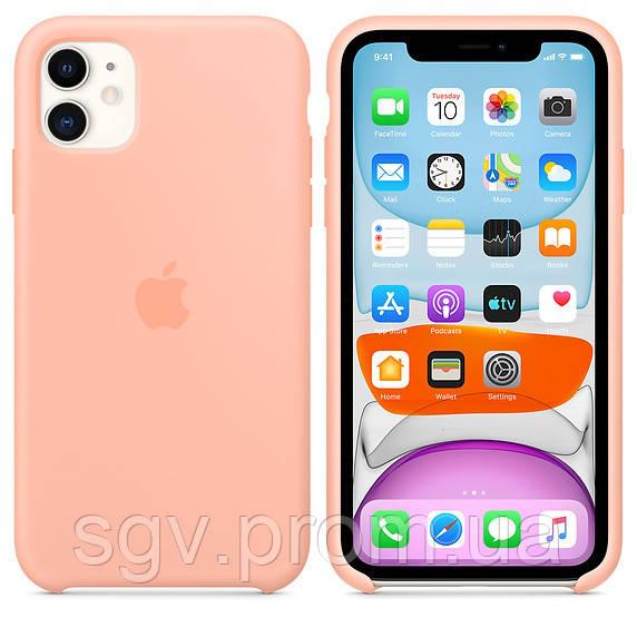 Силиконовый чехол для iPhone 11, цвет «розовый грейпфрут»