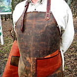 Фартук кожаный стимпанк бармену официанту гриль мастеру флористу кузнецу  подарок., фото 6