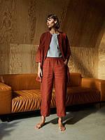 Костюм женский из льна. Кардиган - пиджак и брюки из льна. Цвет в ассортименте, фото 1