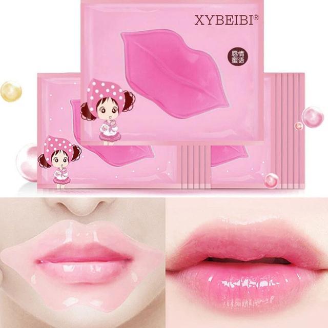 патчи-маски розовые для губ увлажняющие