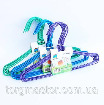 Детские металлические вешалки  цветные, 29см, 10шт в упаковке