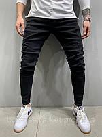 Джинсы мужские чёрные зауженные с потёртостью джинсы чёрные мужские узкие потёртые 30,33 размер