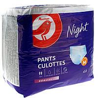 Подгузники-трусы для взрослых Auchan Night M  12 шт.