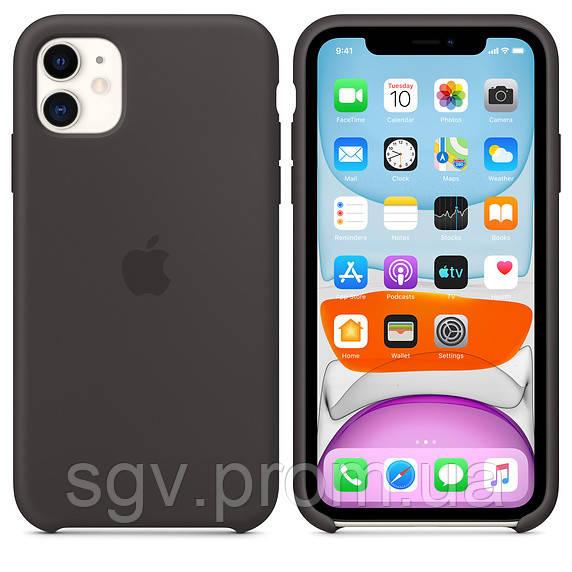Силиконовый чехол для iPhone 11, чёрный цвет