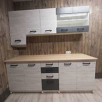 Кухня Злата 2.0 Серая Аляска с пеналом