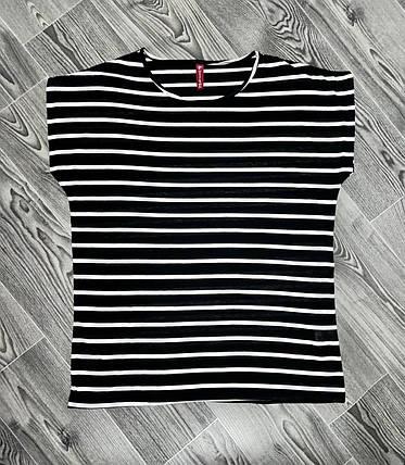 Женская футболка полоска черная, фото 2