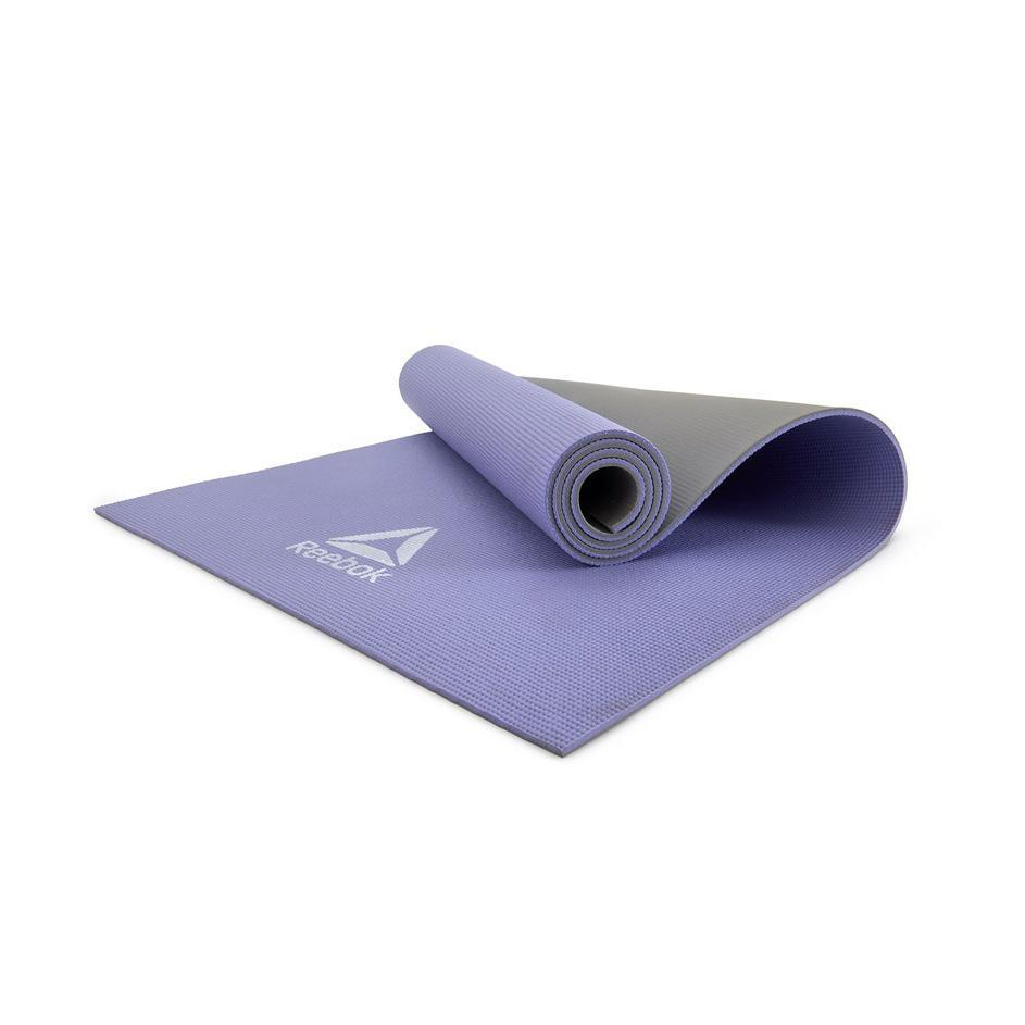 Коврик для йоги Reebok RAYG-11060PLGR 6 мм фиолетовый/серый