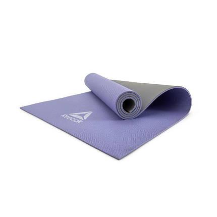 Коврик для йоги Reebok RAYG-11060PLGR 6 мм фиолетовый/серый, фото 2