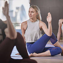 Коврик для йоги Reebok RAYG-11060PLGR 6 мм фиолетовый/серый, фото 3