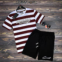 Шорты + Футболка Take x red-black | Комплект мужской летний ЛЮКС качества