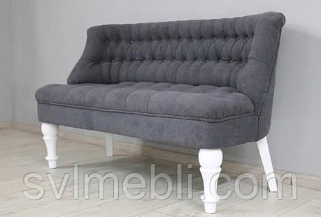 Диван Прованс велюр серый ножки белые, фото 2