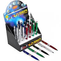От 24 шт. Ручка-лазер 3 в 1, 12-15/601 купить оптом в интернет магазине От 24 шт.