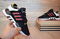 Кроссовки мужские Adidas Equipment в стиле Адидас Эквипмент, текстиль, код OD-1759. Черные с красным