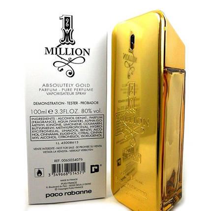 Paco Rabanne 1 Million Absolutely Gold (тестер lux) (edt 100 ml), фото 2